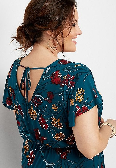 maurices Womens Floral Flounce Bottom Romper