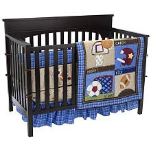 Just Born Junior Varsity 4 Piece Crib Bedding Set