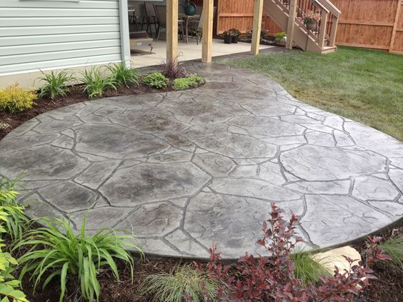 Arizona Flagstone Stamped Concrete Patio Concrete