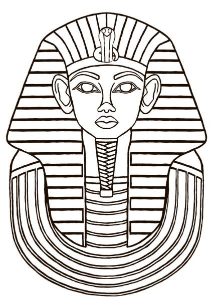 King Tut Coloring Page Free Egyptian Painting Ancient Egypt Art Glass Painting Patterns