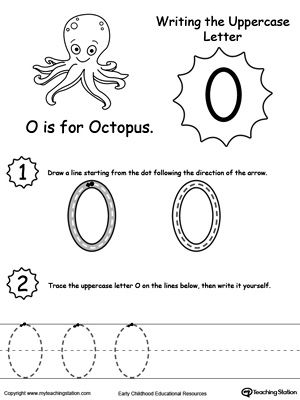 Writing Uppercase Letter O | The alphabet, Activities and The o'jays