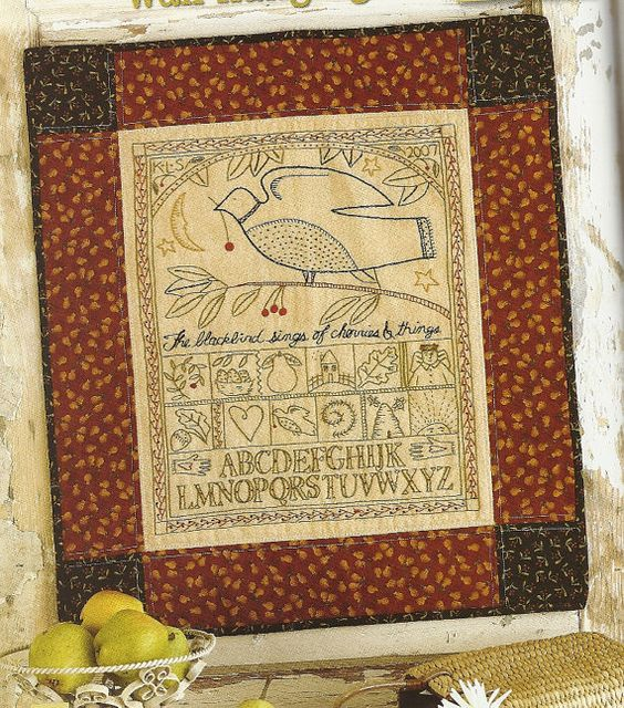 Primitive Folk Art Embroidery/Quilt Book:  SIMPLE PLEASURES in REDWORK. $19.00, via Etsy.