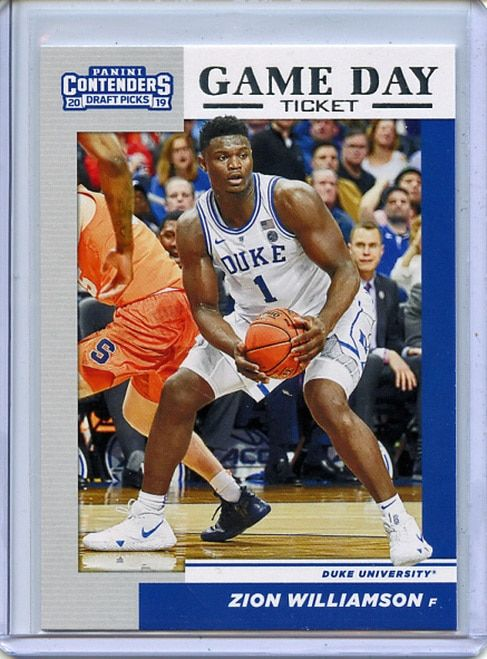 Zion Williamson 2019 20 Contenders Draft Picks Game Day Ticket 1 In 2020 Basketball Cards Zion Draft Games