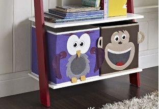 From bookcases to backpacks, these small-fry storage solutions will combat kiddie clutter both at home and on the go. Tip: Color-coded bins help tots to tidy up after playtime.