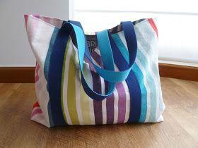 El color de la suerte: Tutorial: Bolso de playa muy fácil - Easy Beach Tote Bag