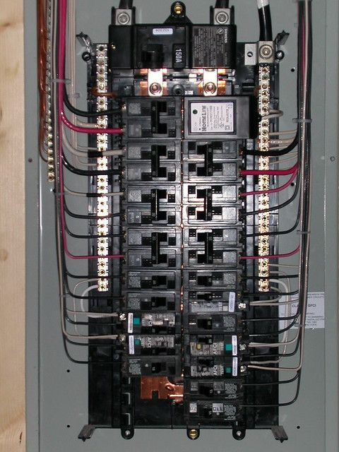Electrical Closeup Electrical Panel Electrical Wiring Residential Electrical