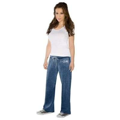 Touch By Alyssa Milano Seattle Seahawks Ladies Star Player Pants - College Navy: College Navy, Pants College,  Denim, Ladies Star,  Blue Jean