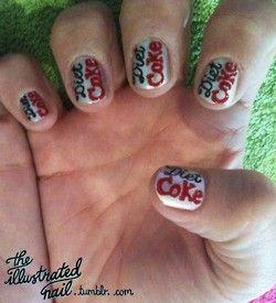 Diet Coke the_rapha: Diet Cokeaholic, Nail Design, Classy Nails, Coolest Nails, Nail Art, Coke Nails