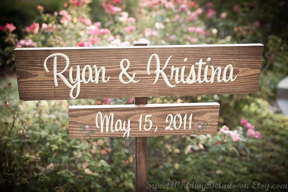 Wedding/Anniversary sign