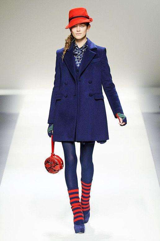 hat, leg warmers, coat, hosiery - Blugirl