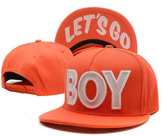 BOY Let Is Go Snapback Hats Orange 6684! Only $8.90USD