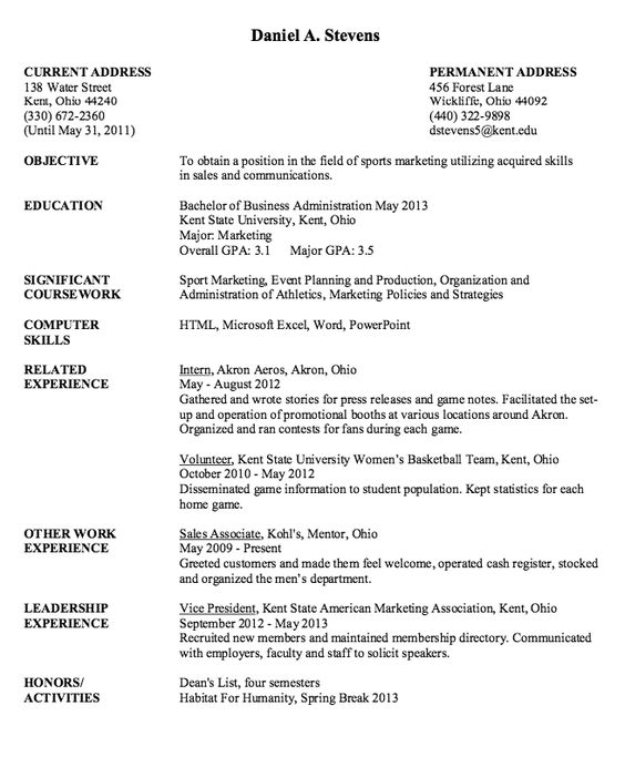 Sport Marketing Resume Sample  HttpResumesdesignComSport