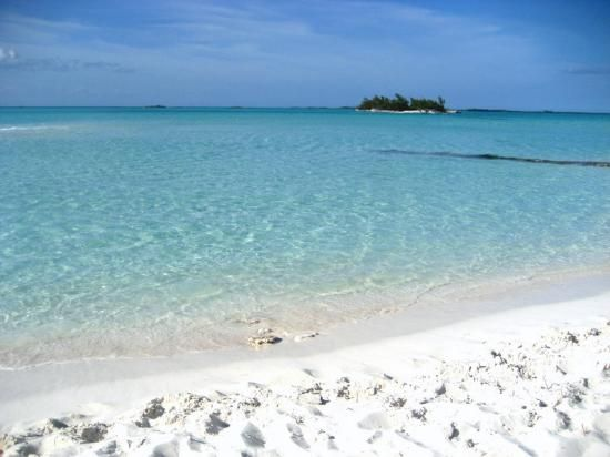 Treasure Cay, Bahamas.  Rated one of the top 10 beaches in the world by National Geographic.  It is serene!