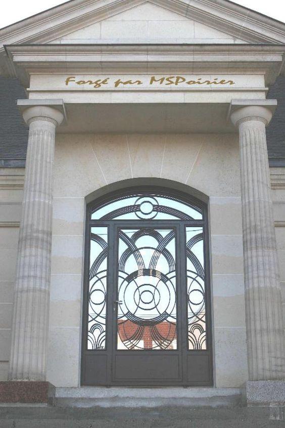 Porte d 39 entr e en fer forg mod le bilbao portes for Petit portail en fer forge