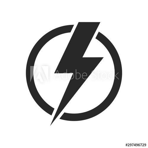 lightning isolated vector icon electric bolt flash icon power energy symbol thunder icon circle concept affil in 2020 energy symbols power energy electric bolt pinterest