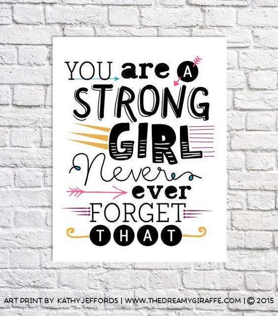 Inspirational Quote Print Tween Girl Gifts Inspiring Art Positive Affirmation Teen Room Decor Motivational Wall Decor New Years Resolution