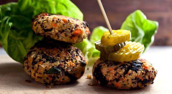 Quinoa and greens burger