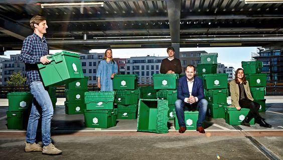 Box at Work: Grüne Umzugskisten zum Leihen und Lagern