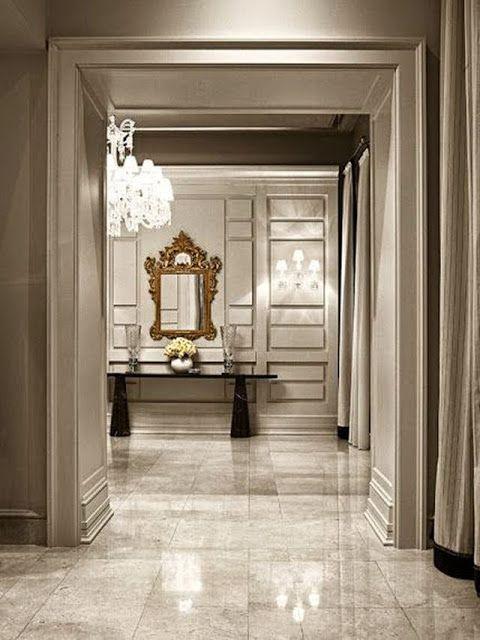 beautiful large open foyer marble tile floors huge crystal