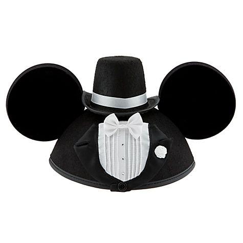 Personalizable Tuxedo Groom Mickey Mouse Ear Hat for Men  $19.95    http://www.disneystore.com/ear-hats-accessories-personalizable-tuxedo-groom-mickey-mouse-ear-hat-for-men/mp/1254789/1000292/