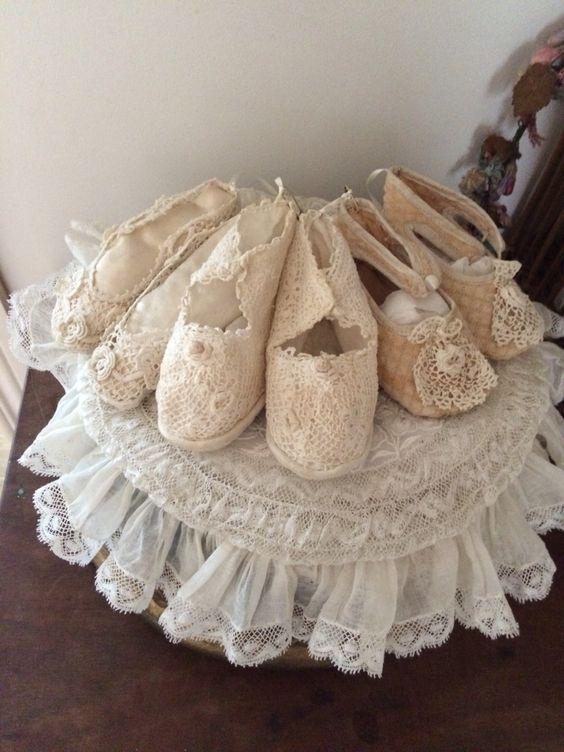 Antique Lace Baby Shoes