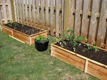 ten dollar cedar raised garden beds do it yourself home projects