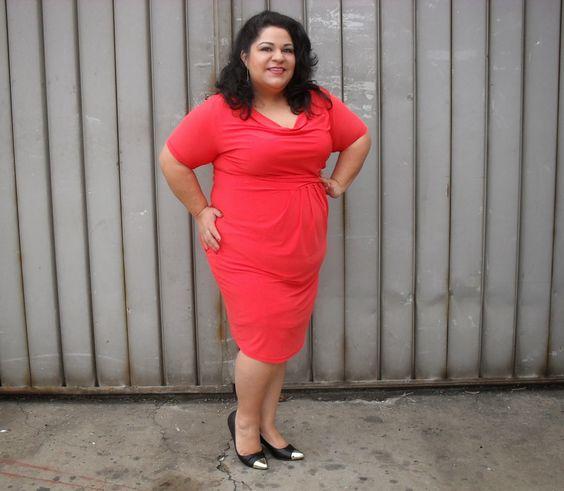 In PAPAYA... Dress by @IGIGI by Yuliya Raquel  My latest delivery from @Gwynnie Bee  Full Review at: http://bbwgeneration.blogspot.com/2014/01/mmmmm-papaya-dress-by-igigi-outfit-of.html
