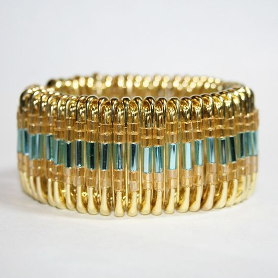 bracelet pingles de nourrice recycle pinterest turquoise bracelets et bracelet d. Black Bedroom Furniture Sets. Home Design Ideas