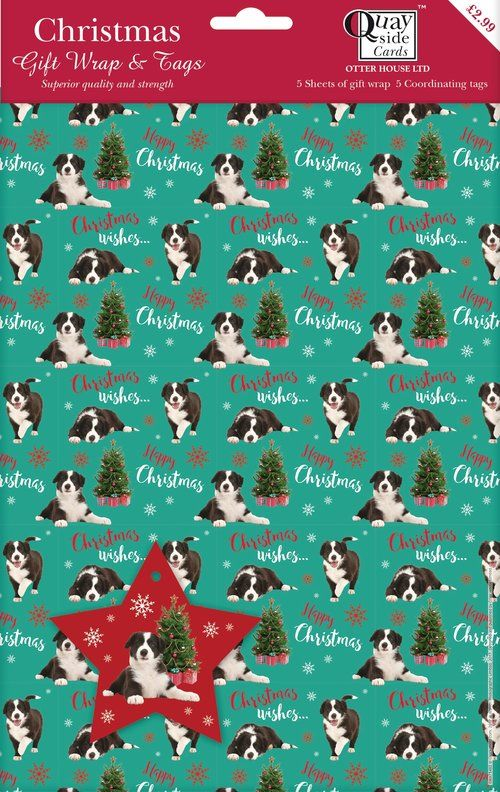 Border Collie Wrapping Paper From Www Twowoofs Co Uk Xmas Gift