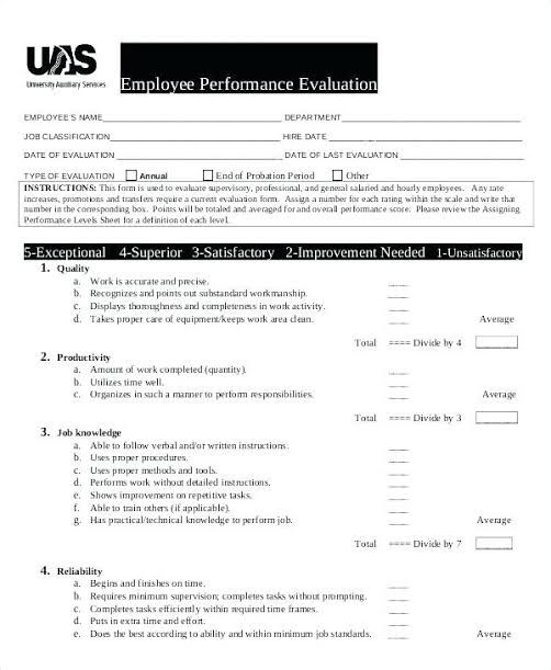 Image Result For Performance Appraisal Forms For Teachers