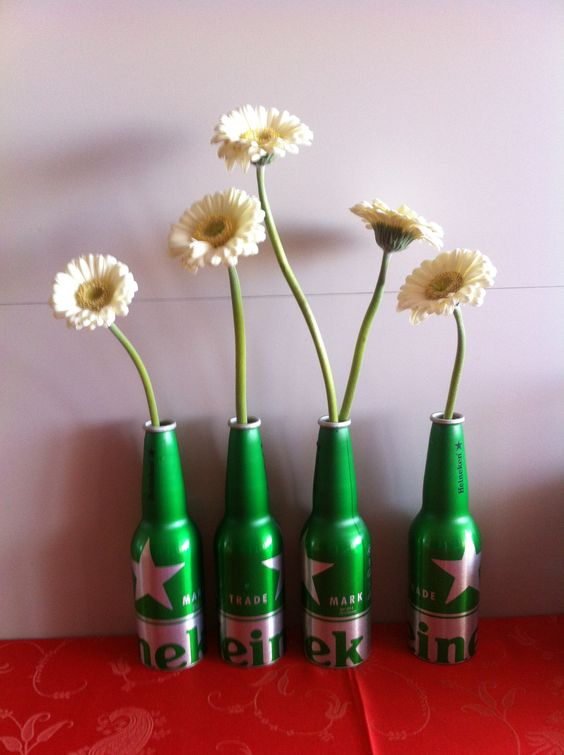 Recycling Heineken beer bottles :)