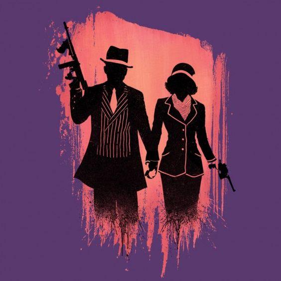 bonnie-clyde-purple-silhouette-gangster-love-580x580.jpg (580×580)