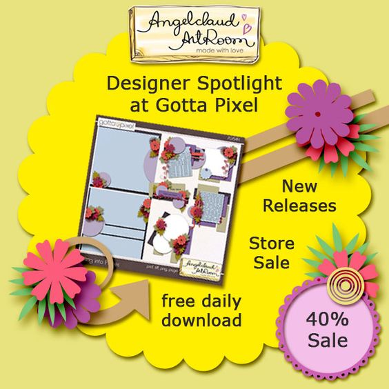 Special Sale by Angelclaud ArtRoom! Angela is Gotta Pixel's Designer Spotlight of the week.  Visit her store at Gotta Pixel every day to download free templates! Additionally Angela's Store at The Digichick is on 40% sale. The Digichick; http://www.thedigichick.com/shop/Angelclaud-ArtRoom/. 11/19/2014