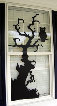 Free Halloween Window Decorating Templates