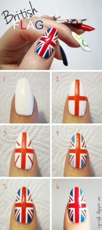 How to paint the Union Jack on your nails!!