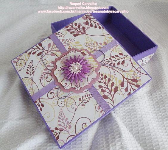 Caixa de mdf decorada com scrapbook