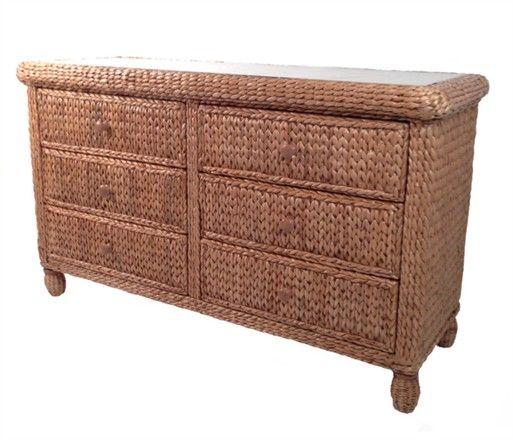 Seagrass Double Dresser - Miramar #seagrass #bedroom #furniture # ...