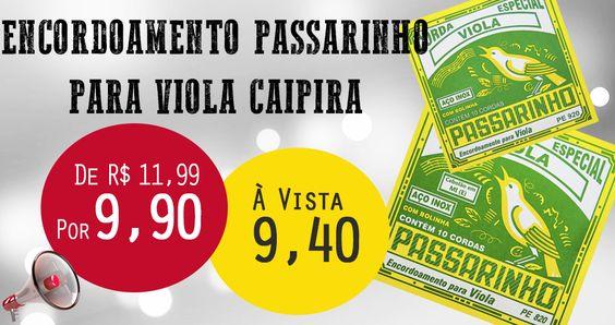 Confira a Revolução #hpgmusical Encordoamento Passarinho http://www.hpgmusical.com.br/categoria/1/28/63/0/MaisRecente/Decrescente/21/1/0/0/.aspx