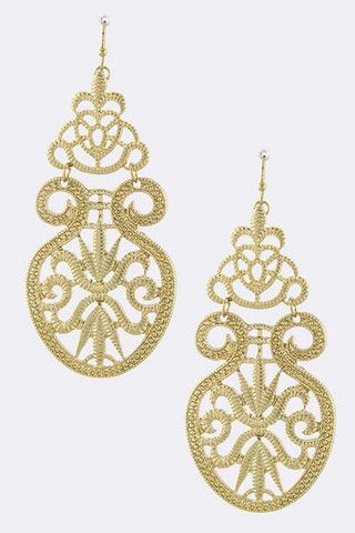 Etched Motif Cut Out Earrings – House of Taylor