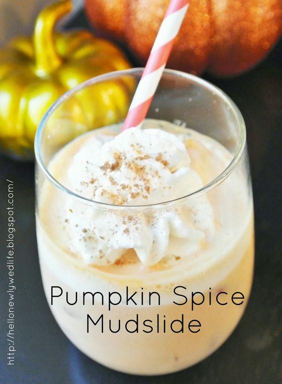 Pumpkin Spice Mudslide Halloween Thanksgiving Drink Recipe