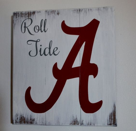 Alabama Roll Tide by LettersbyTina on Etsy