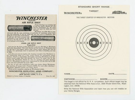 2 Winchester Western paper shooting by BookandPaperShop on Etsy