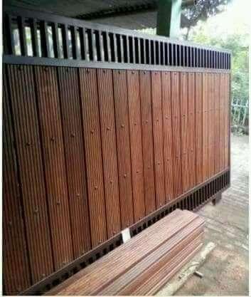 Arsip: Pagar Minimalis Grc - Bandung Kota - Rumah Tangga | Pagar Kayu,  Desain Eksterior, Minimalis