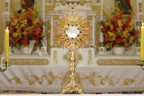 Foto Ostensorio Ostensorial Adoration In The Catholic Church