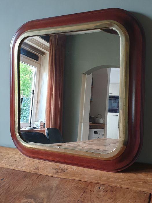 Hedendaags Online veilinghuis Catawiki: Grote spiegel, omlijst met hardhout JF-34