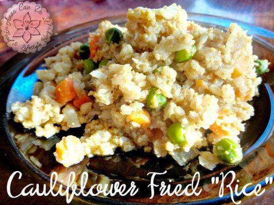 "Cauliflower Fried ""Rice"" - Anna Can Do It!"