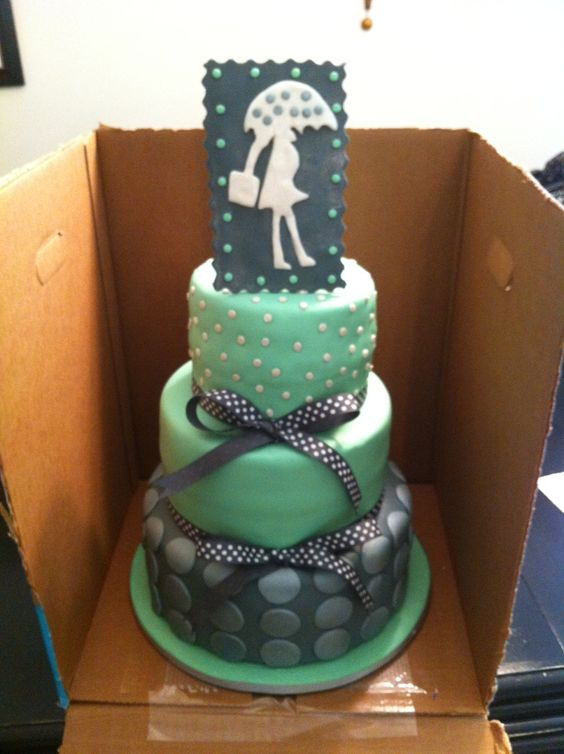 Mint Green And Gray Baby Shower Cake Cakes We Ve Made