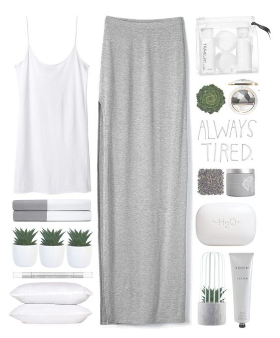 """""""Always Tired"""" by kearalachelle ❤ liked on Polyvore featuring Victoria's Secret, Organic by John Patrick, Ralph Lauren Home, H&M, red flower, CARGO, Collistar, Rodin Olio Lusso and H2O+"""