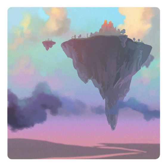 low poly floating island - Google Search