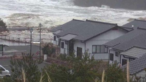 気仙沼市本吉町小泉地区津波の様子(HD)